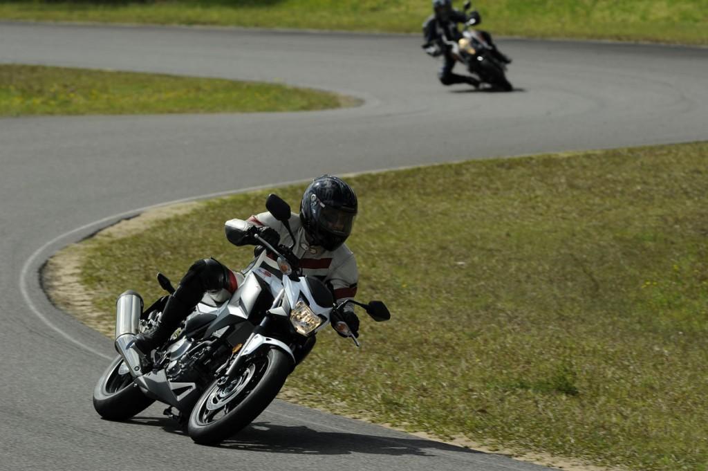 2014 Honda CB300F BikeReview Action