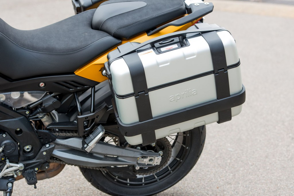The hard panniers are seriously sturdy.