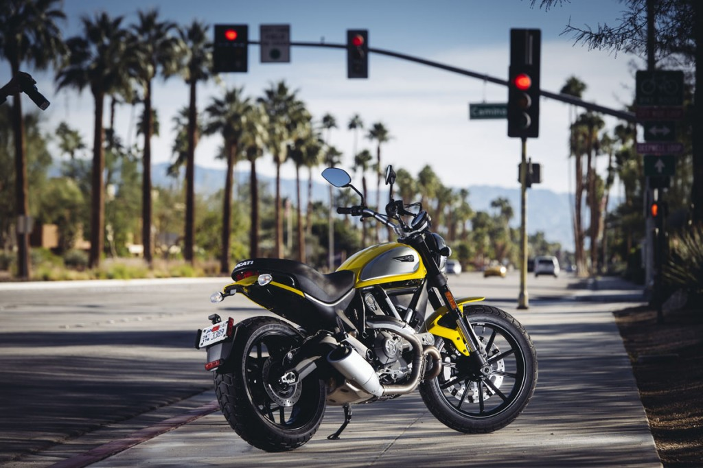 Ducati Scrambler Icon static on street