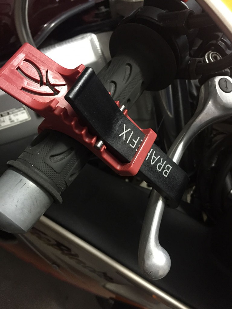 We use BrakeFix on our press bikes now after Jeff dropped his prized 1995 Tiger Blade onto a Ducati Hypermotard.
