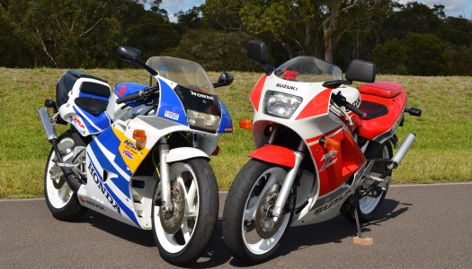 RGV250 Versus NSR250 Retro Strokers Review