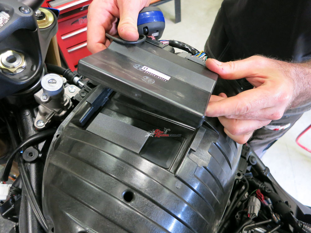 There is a trick to accessing the airfilter, with a sneaky bolt under the ECU.