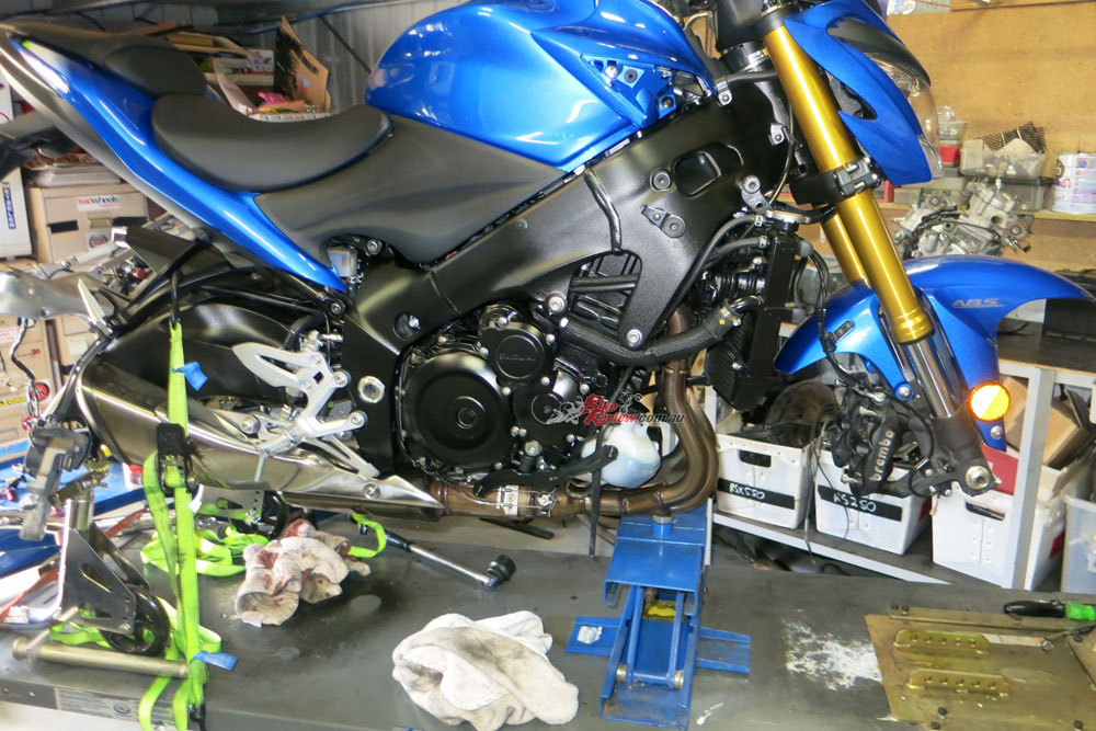 Next we spent an hour or so completely wiping the entire bike over with WD40 to get it back to new and protect it.
