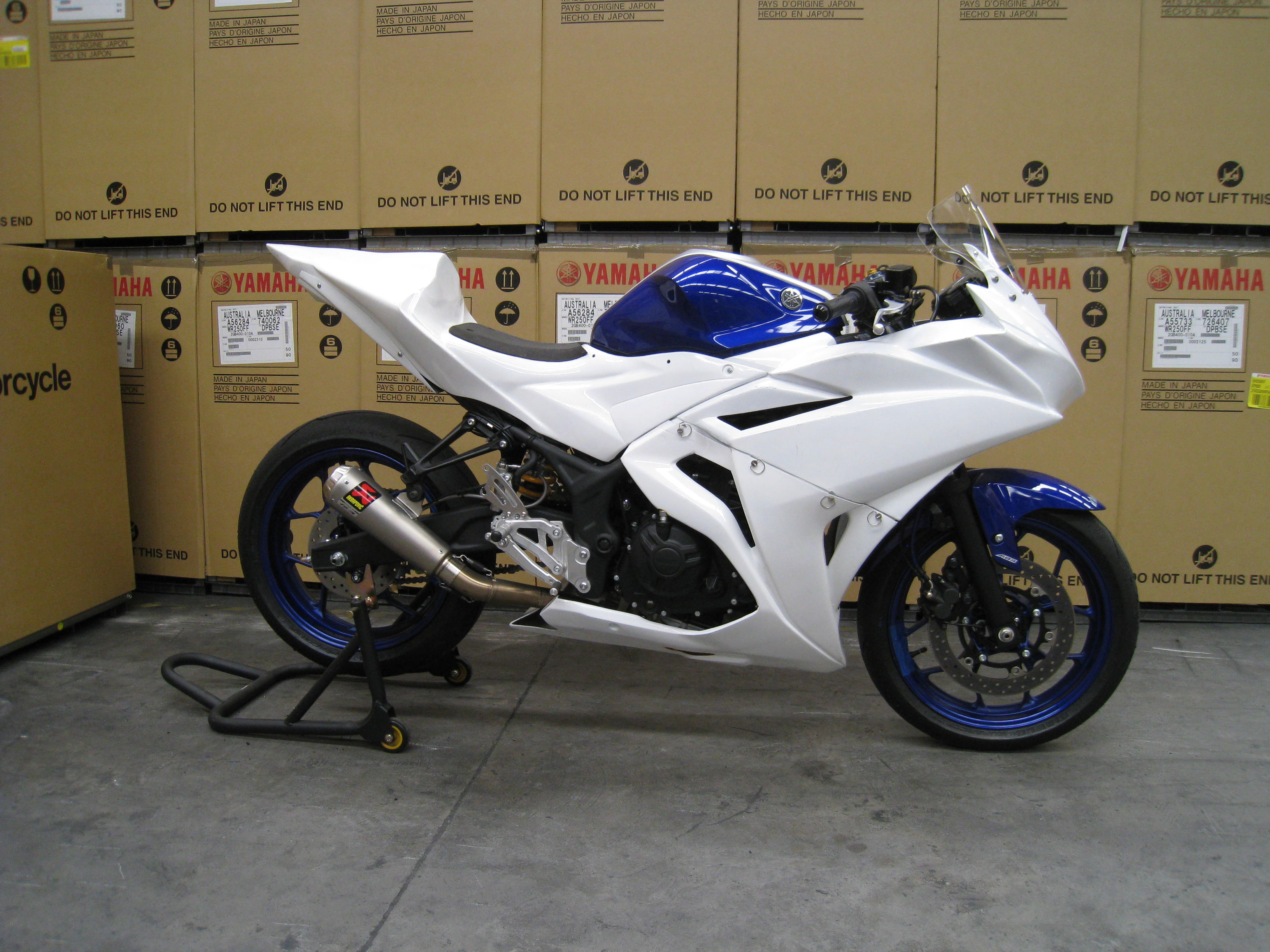 Entry level racing on YZF-R3 will be low cost and hassle free Prototype race bike pictured.