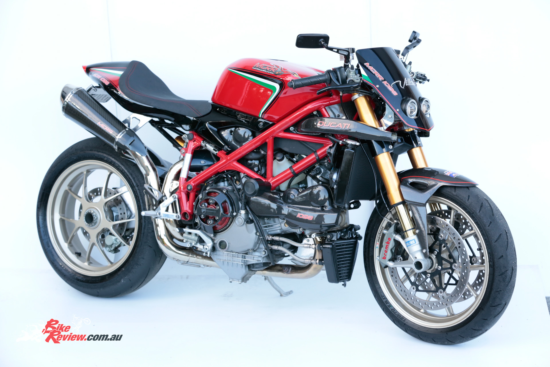 custom 1098 mc rr ducati 39 fighter bike review. Black Bedroom Furniture Sets. Home Design Ideas