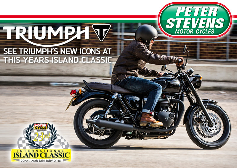 Triumph - See the new bonneville, thruxton, street twin at 2016 island classic
