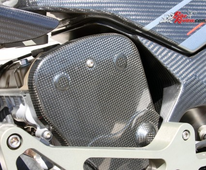 Carbon-fibre covers.