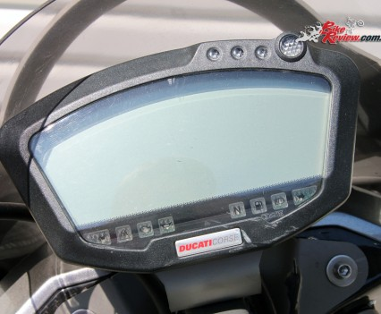Ducati Corse instruments with custom Vyrus software.