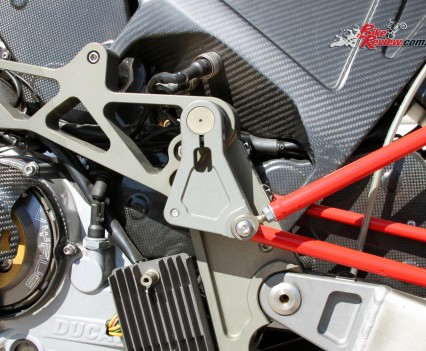 The suspension rods connect to the chassis.