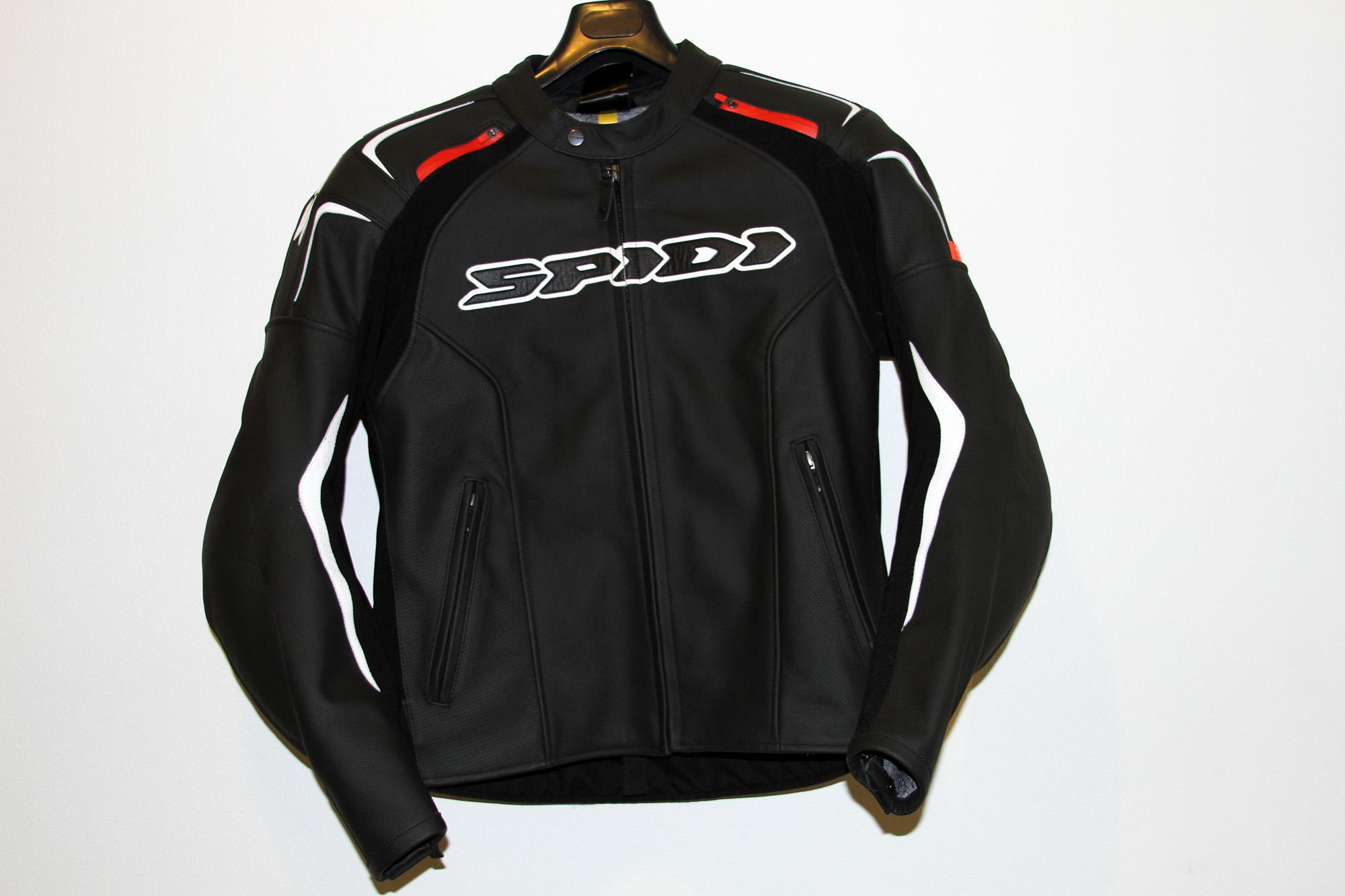 Leather track jacket