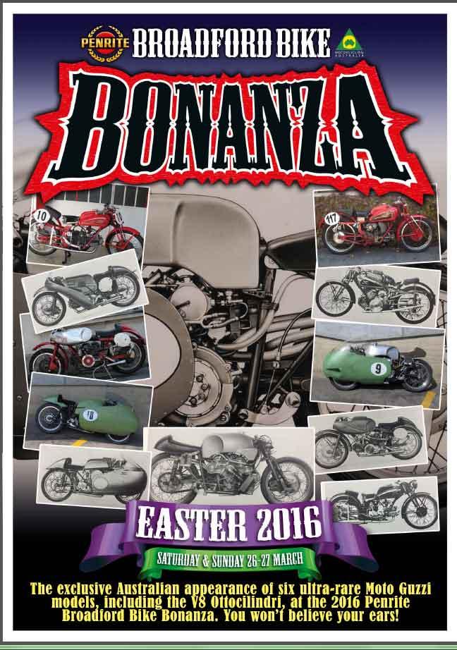 2016 Broadford Bike Bonanza poster easter 2016 March 26-27
