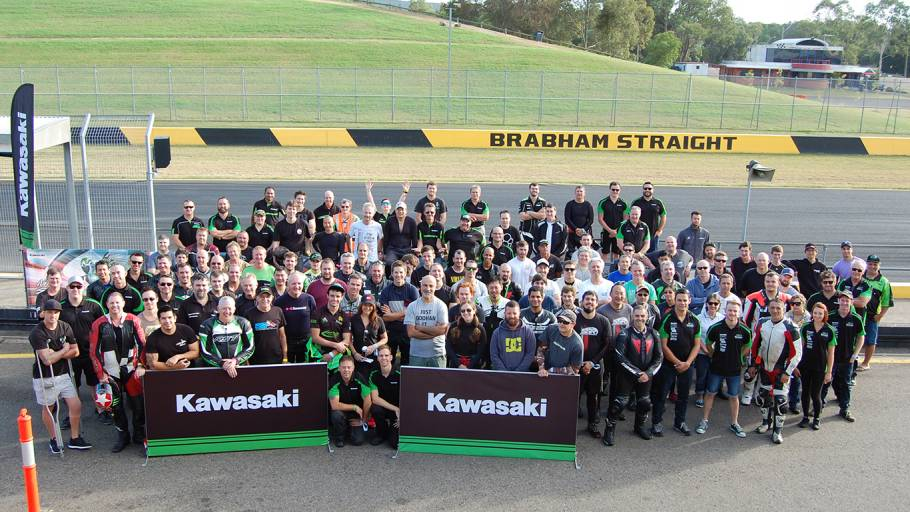 Kawasaki Team Green Ride Day