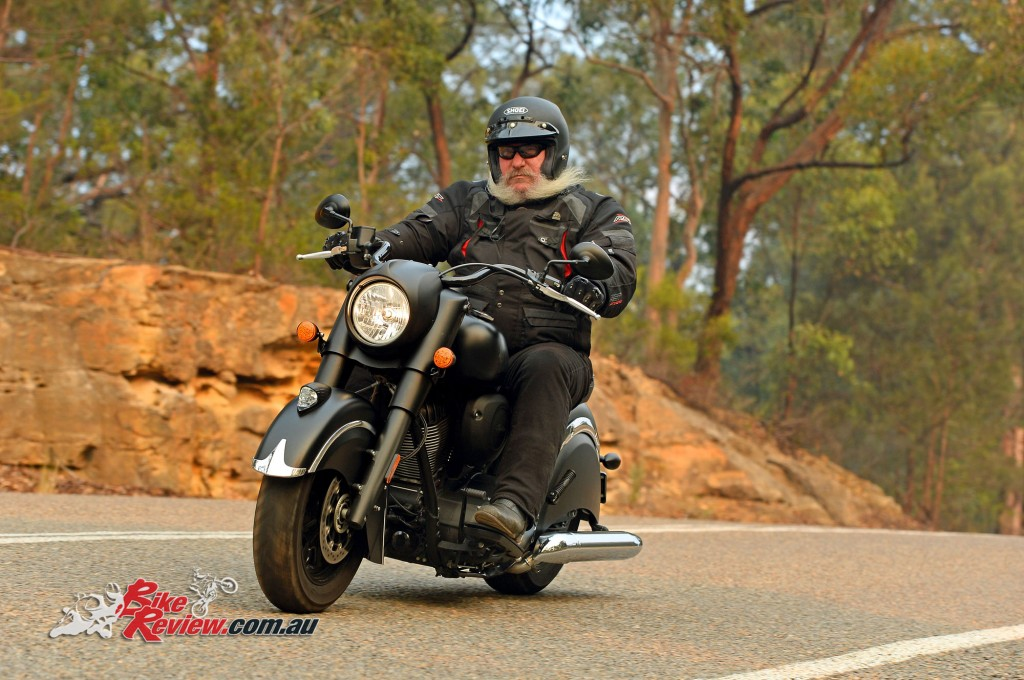 2016 Indian Chief Dark Horse Action - Bike Review (1)