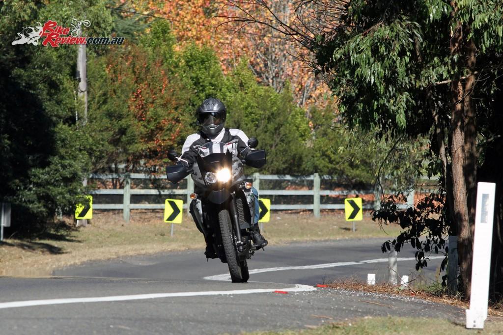 2016 Kawasaki KLR650 Bike Review Actions (12)
