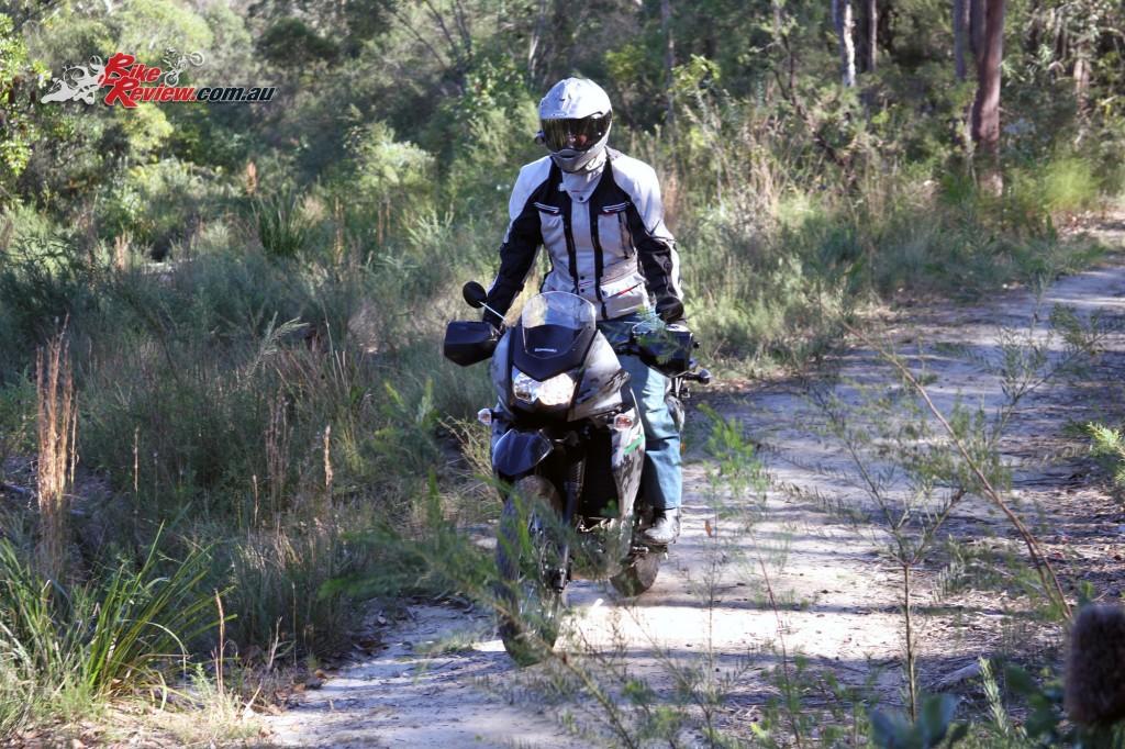 2016 Kawasaki KLR650 Bike Review Actions (16)