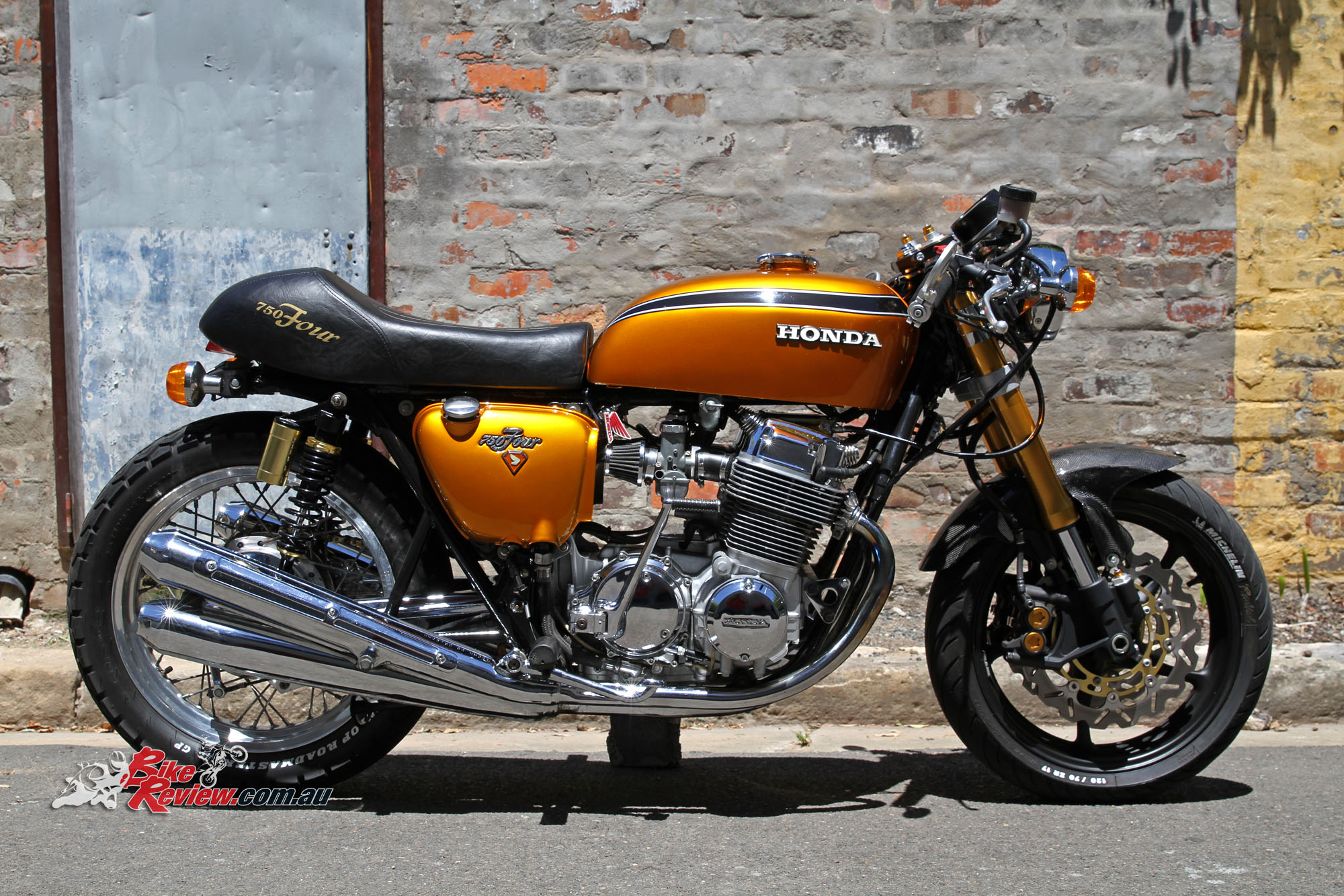 classic custom honda cb750 four bike review. Black Bedroom Furniture Sets. Home Design Ideas