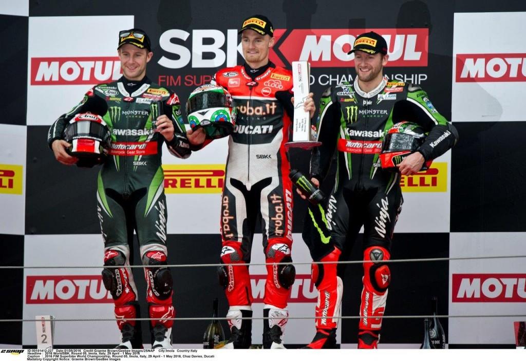 Imola race 2 podium..Rea 2 Davies 1 Sykes 3