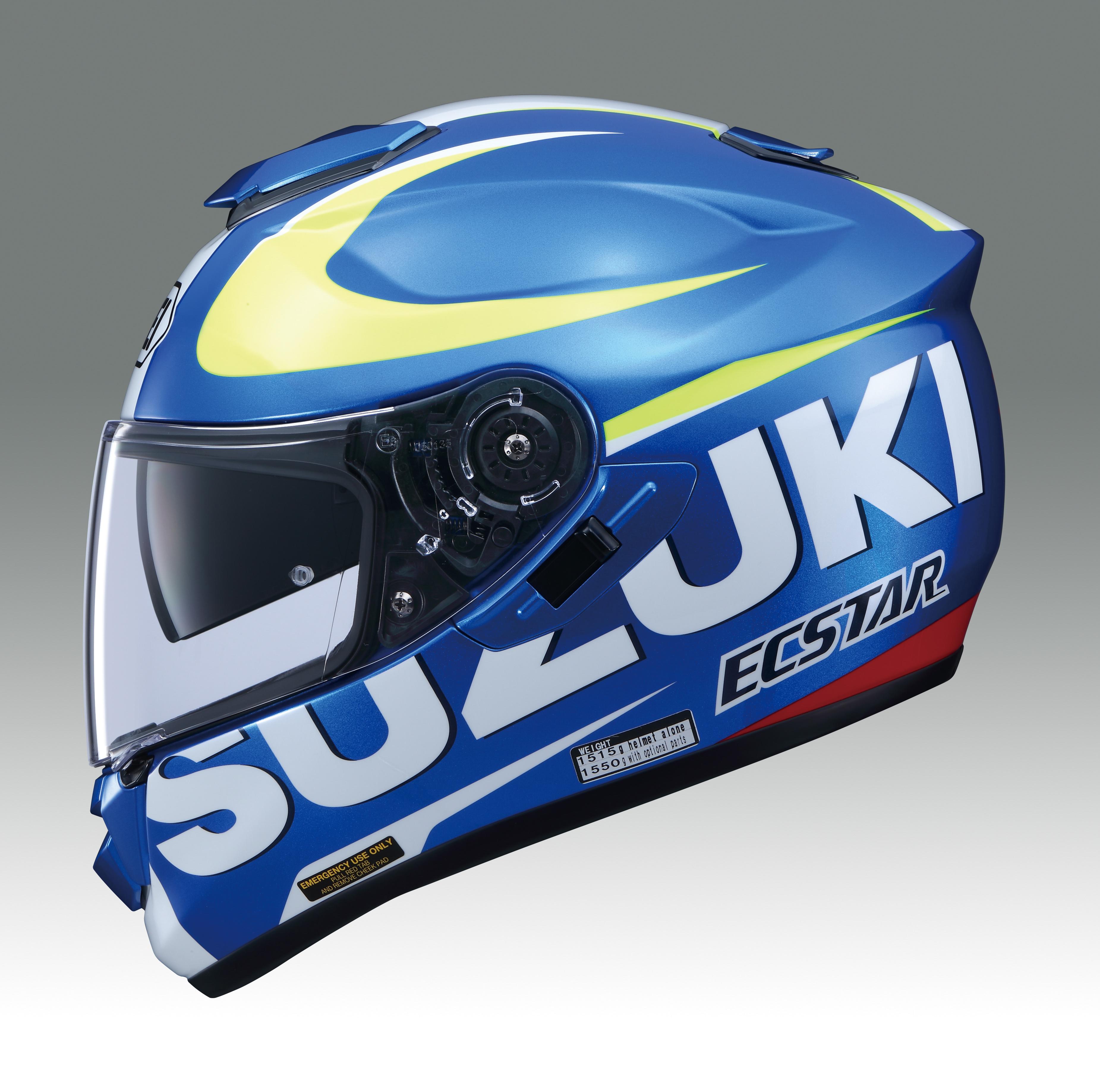 new product shoei gt air helmet suzuki motogp available now bike review. Black Bedroom Furniture Sets. Home Design Ideas