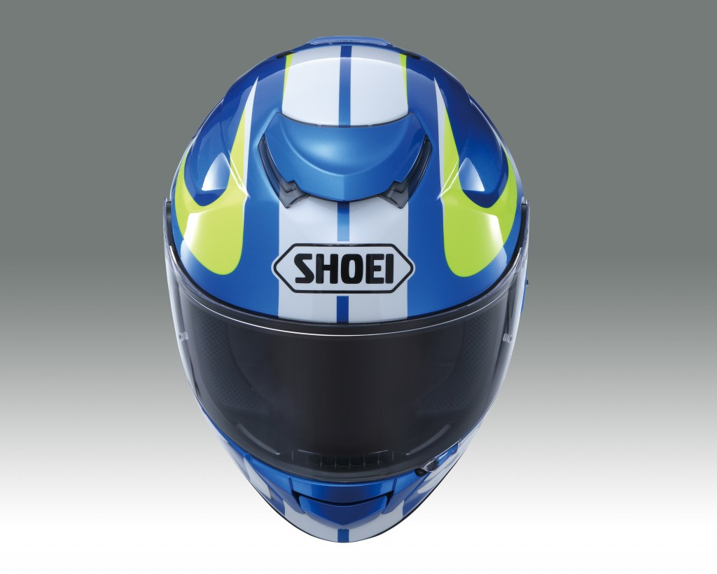 Shoei GT-Air Suzuki MotoGP Helmet features AIM+ (Advanced Integrated Matrix Plus Multi-Fibre) construction, EPS-liner system, CNS-1 anti-fog pinlock system, Emergency Quick Release System (EQRS), QSV-1 internal sun visor, removable/washable cheek pads, efficient ventilation, integrated spoiler and Team Suzuki Ecstar graphics.