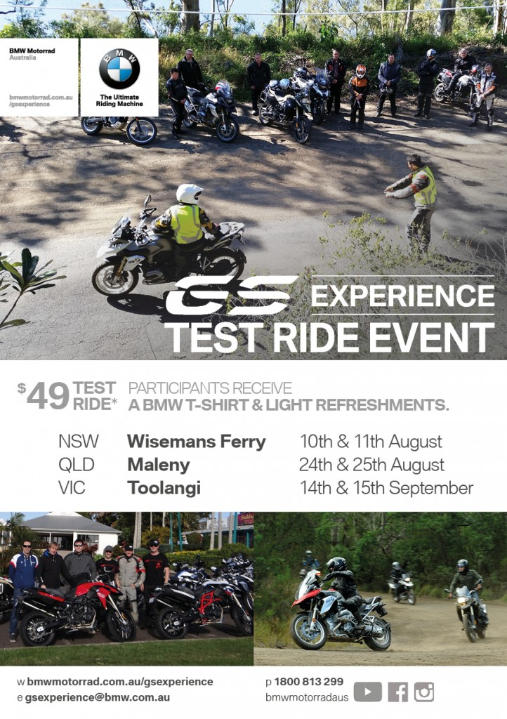 The popular BMW Motorrad GS Experience test ride program is back again in 2016.