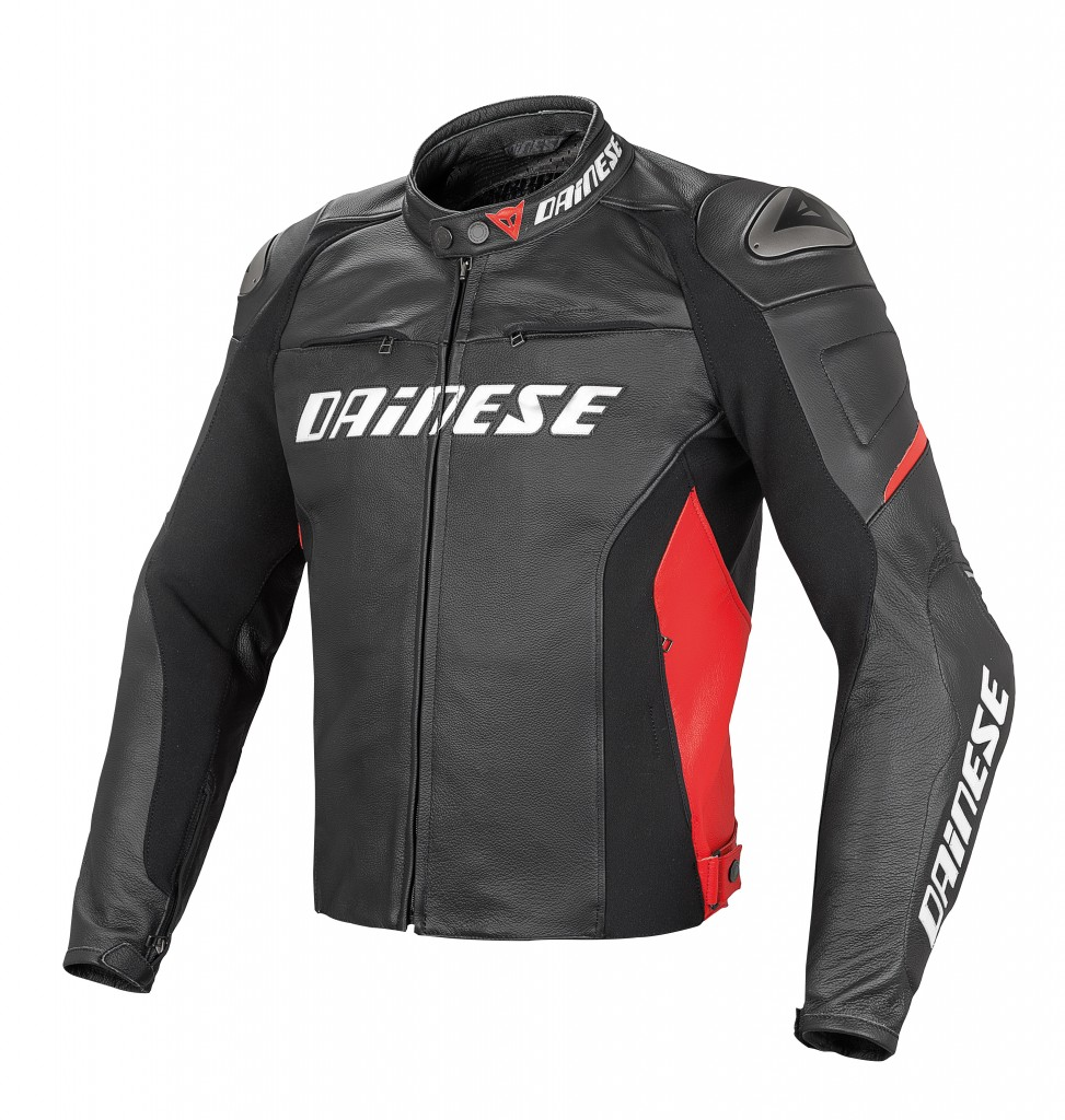 The Dainese Racing D1 Pelle Jacket is a premium Tutu leather jacket with impeccable styling and great safety features.