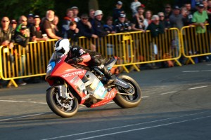 William Dunlop powers to a 112.85mph lap on the new electric Victory RR2
