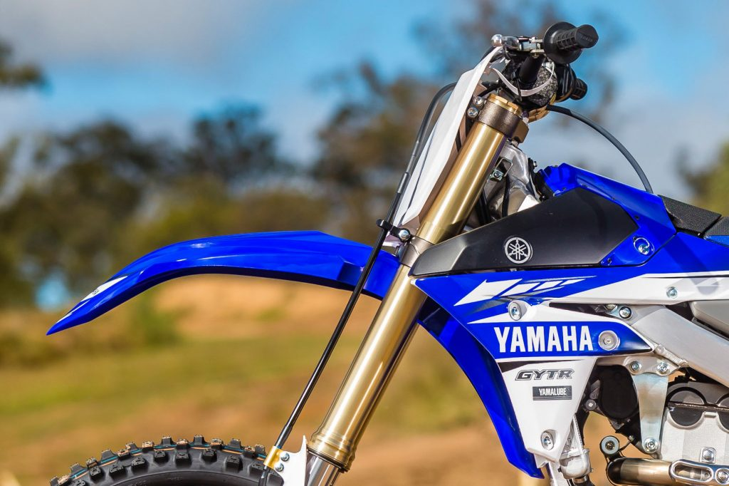 All new 2017 Yamaha YZ250F.