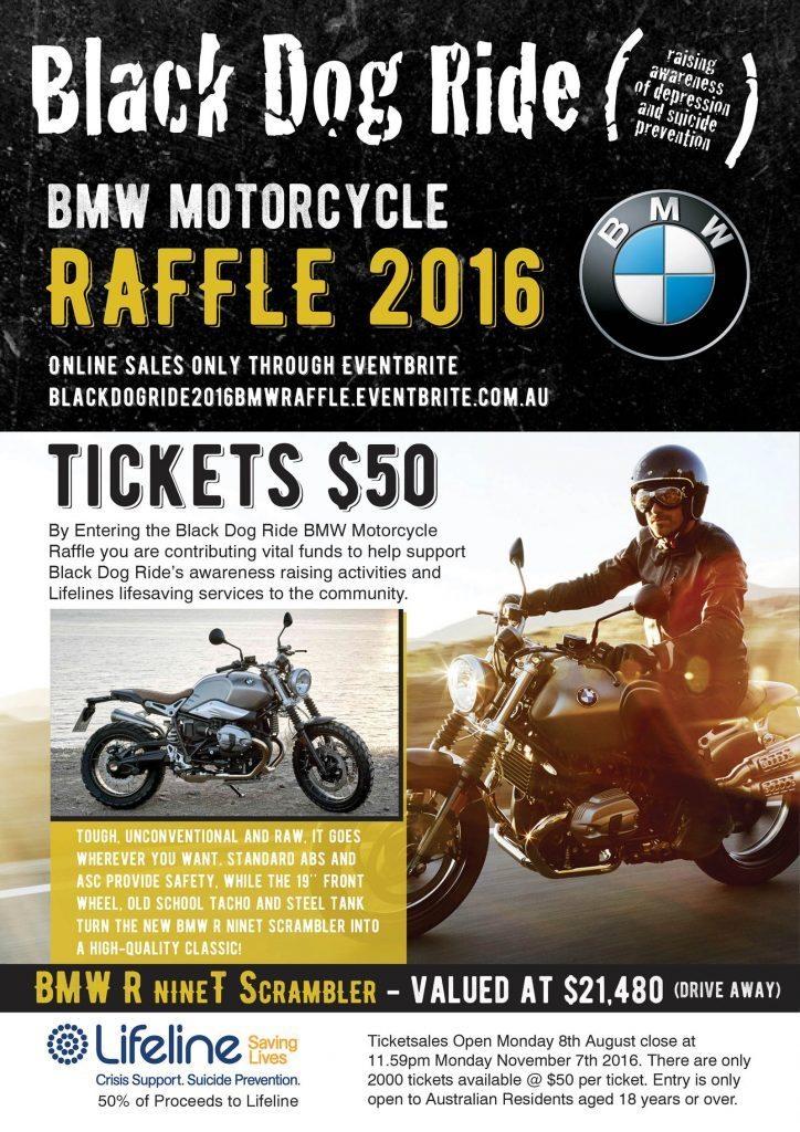 Win a BMW R nineT Scrambler and support Black Dog Ride.