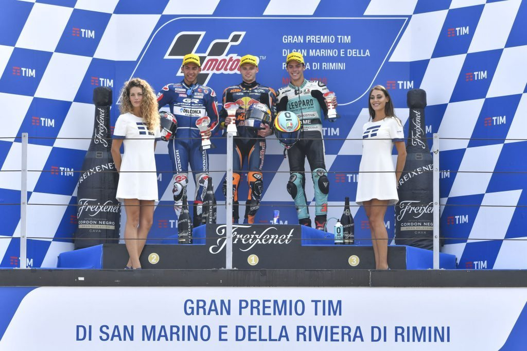 Moto3 Binder and Bastianini duel it out in Misano 2