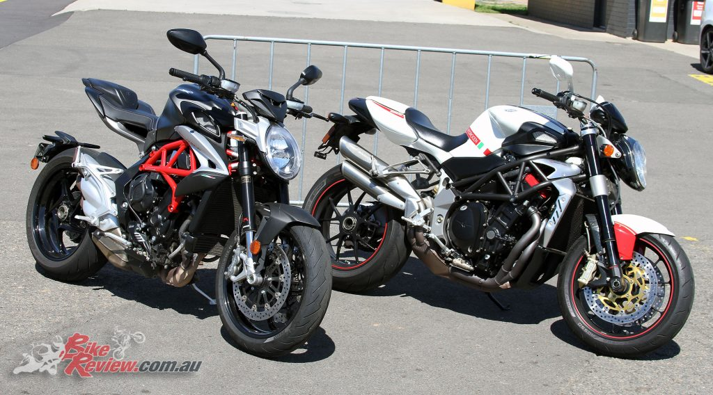 2016 MV Agusta Brutale 800 and an older 910R Hydrogen