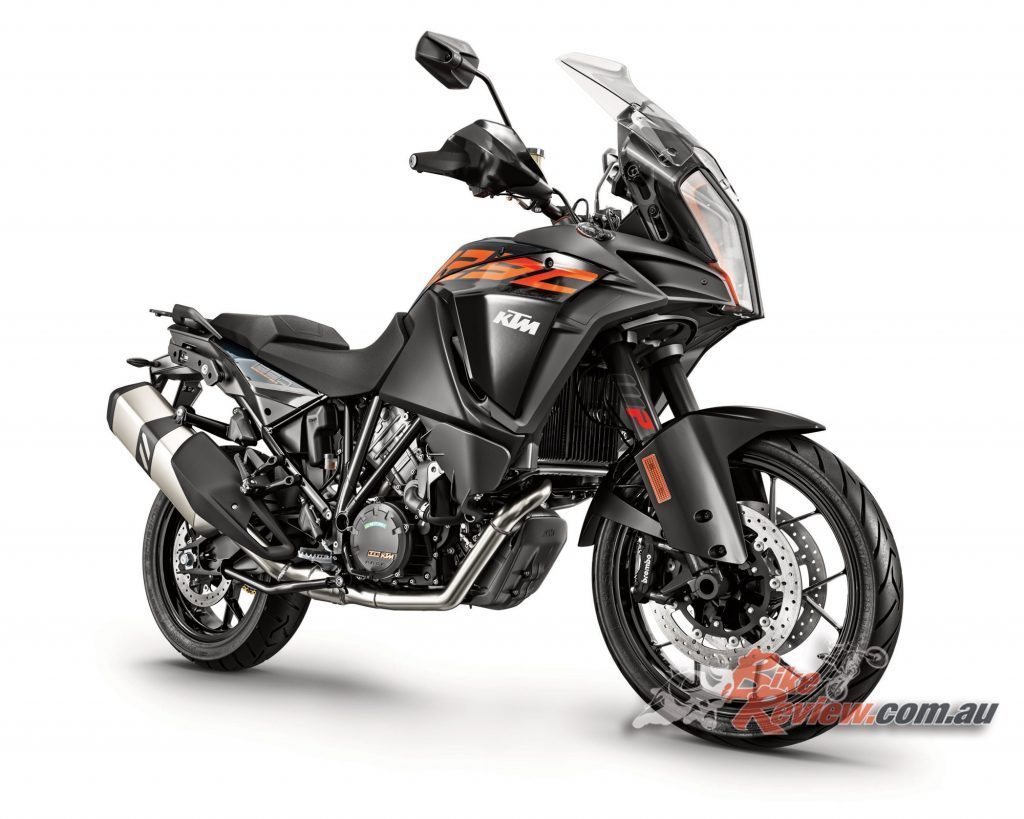 2017 KTM 1290 Super Adventure S. A optional Travel Pack includes Hill Hold Control (HHC), the Motor Slip Regulation (MSR) and the quick shift+, up and down quickshifter.