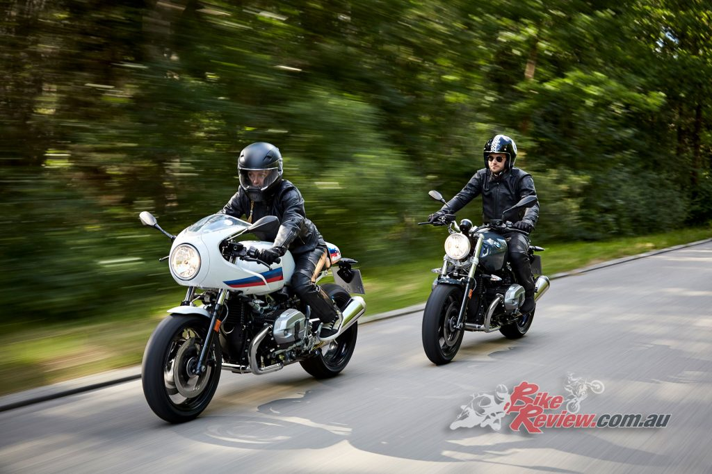 2017 BMW R nineT Pure (right) and Racer (left)