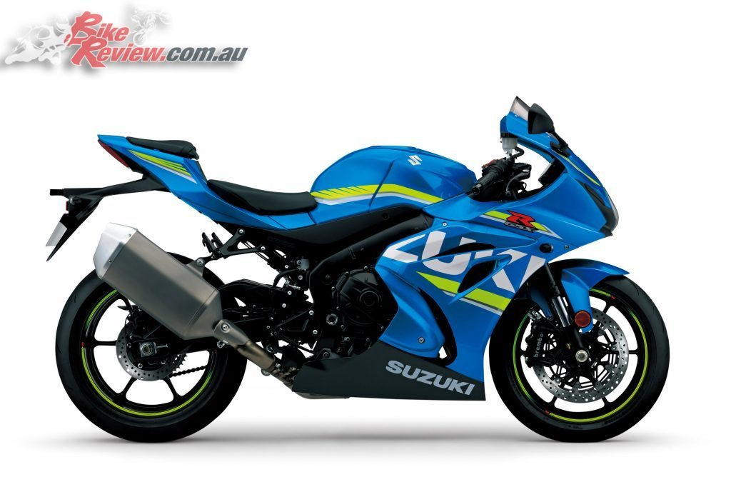The standard 2017 Suzuki GSX-R1000 priced at $21,990 plus on road costs or an MSRP of $23,990 ride-away and available late June