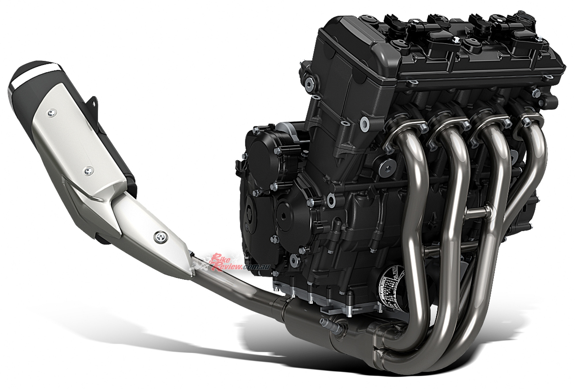 The GSX-S750 powerplant is that found on the GSR750 but revised for Euro4, increased power, better economy and a new exhaust system