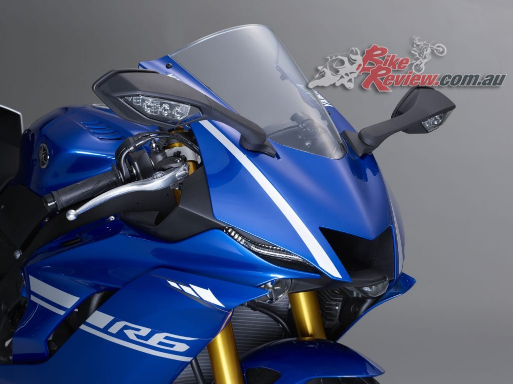 2017 Yamaha YZF-R6, front fairing