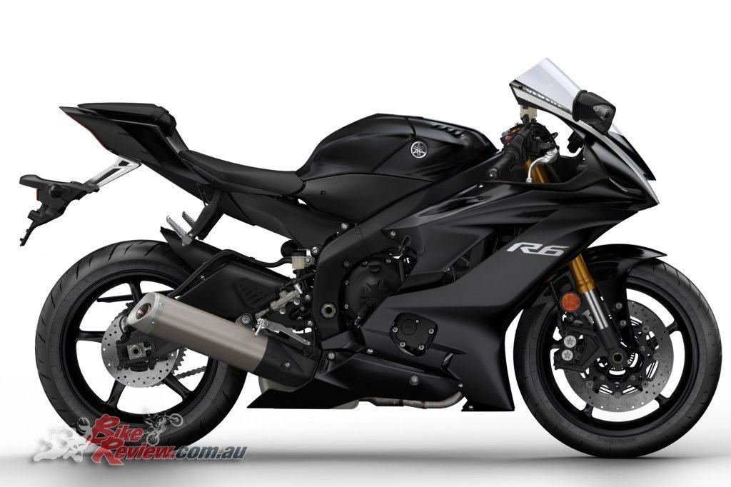 2017 Yamaha YZF-R6, Tech Black