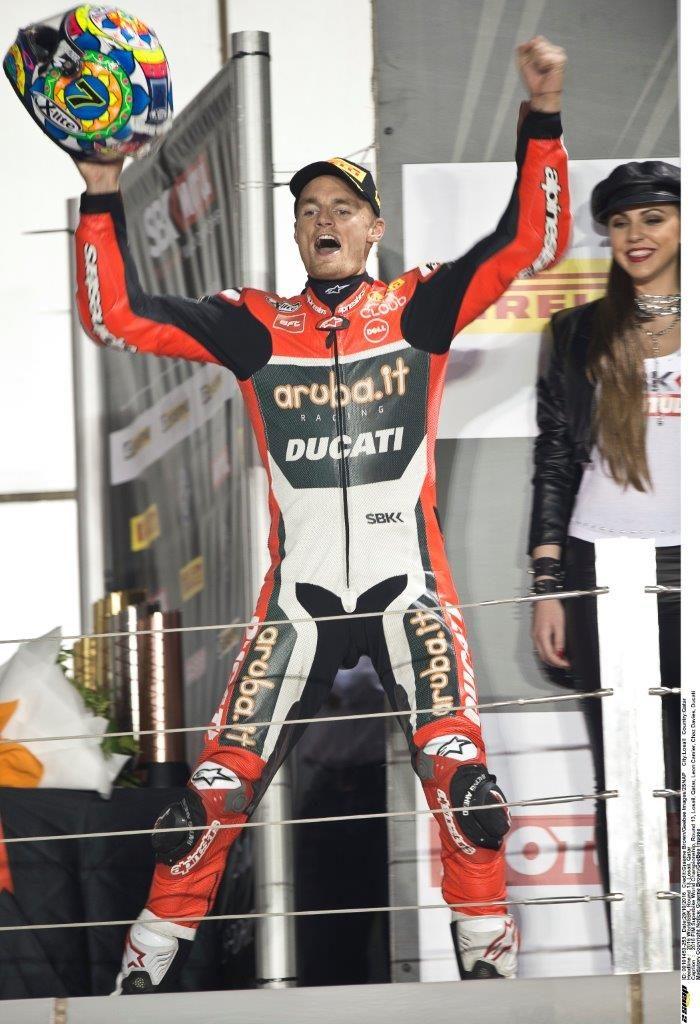 8 Chaz Davies podium for Ducati