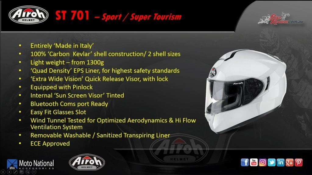 Airoh ST 701, Sport/Sport Touring helmet