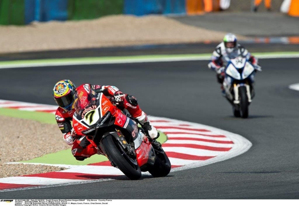 Chaz Davies Ducati winner race one Magny Cours