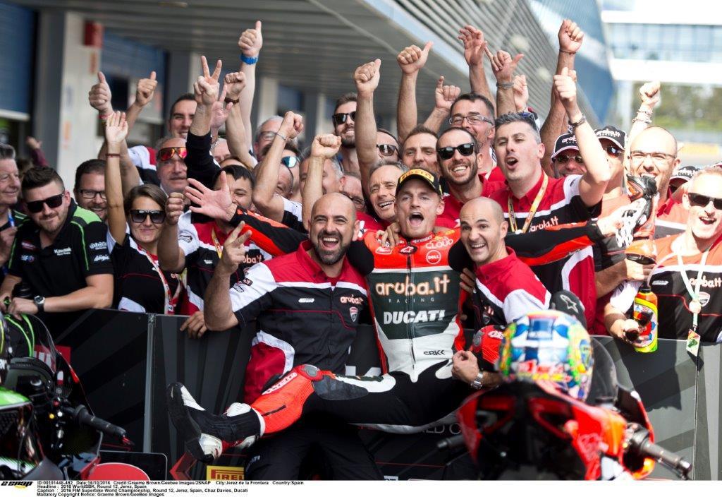 Chaz Davies takes the double win at Jerez
