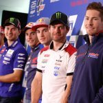 Group photo at the #AustralianGP Press Conference 2016