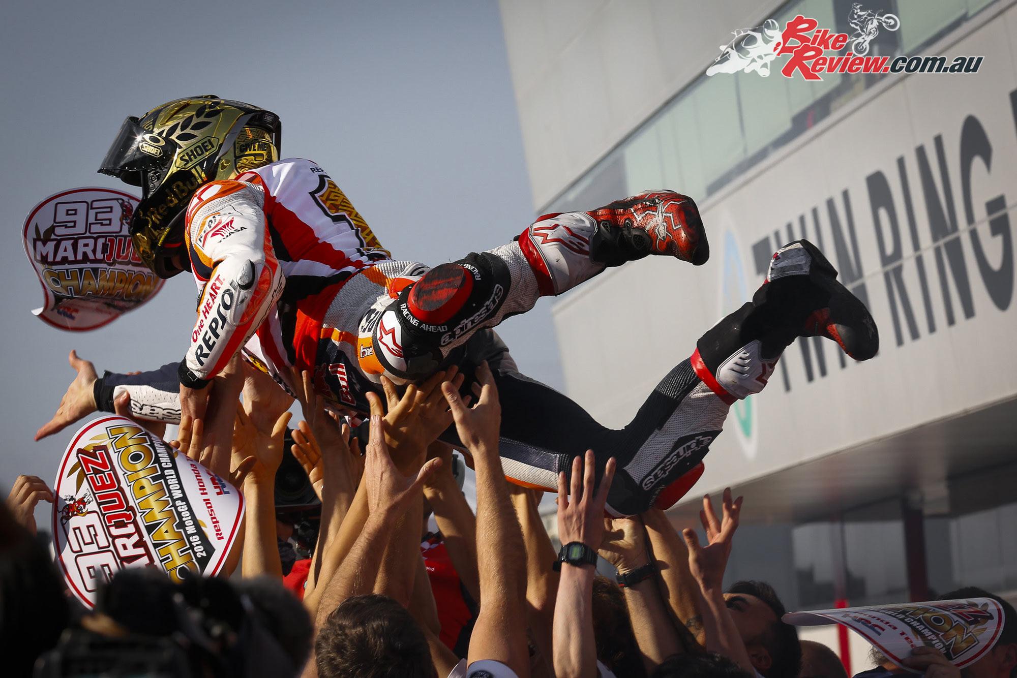 Marc Marquez Claims Third MotoGP World Championship - Bike Review
