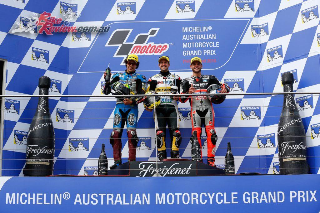 Moto2 Podium, Phillip Island MotoGP 2016