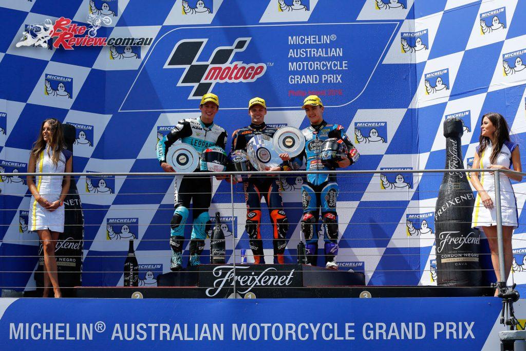 Moto3 Podium, Phillip Island MotoGP 2016