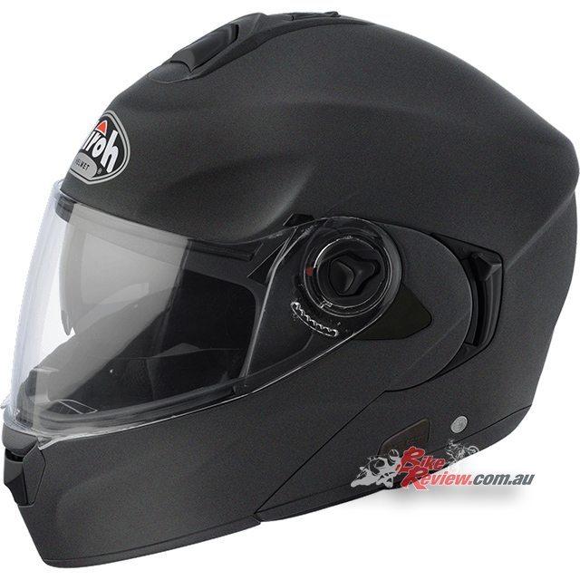 Airoh Rides, Road/Touring helmet, flip-up, Anthracite Matt Black