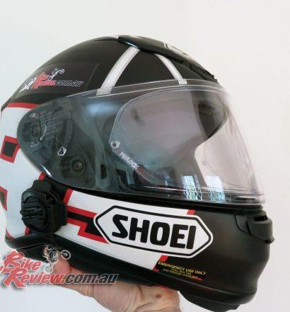 Shoei NXR helmet, with new visor, Pinlock and Air Spoiler