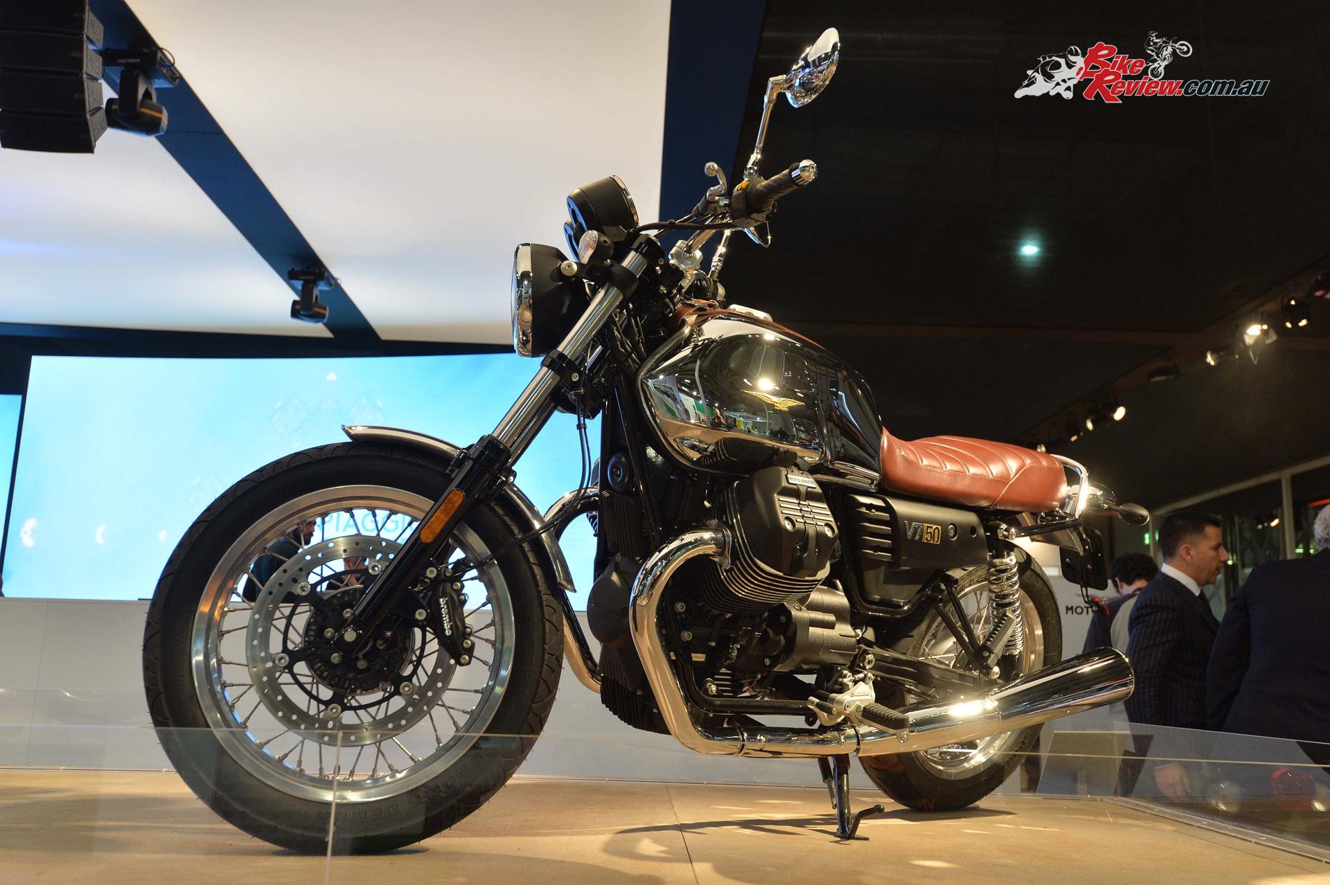 2017 Moto Guzzi V7 III Anniversario, EICMA 2016, Image courtesy of Moto Guzzi