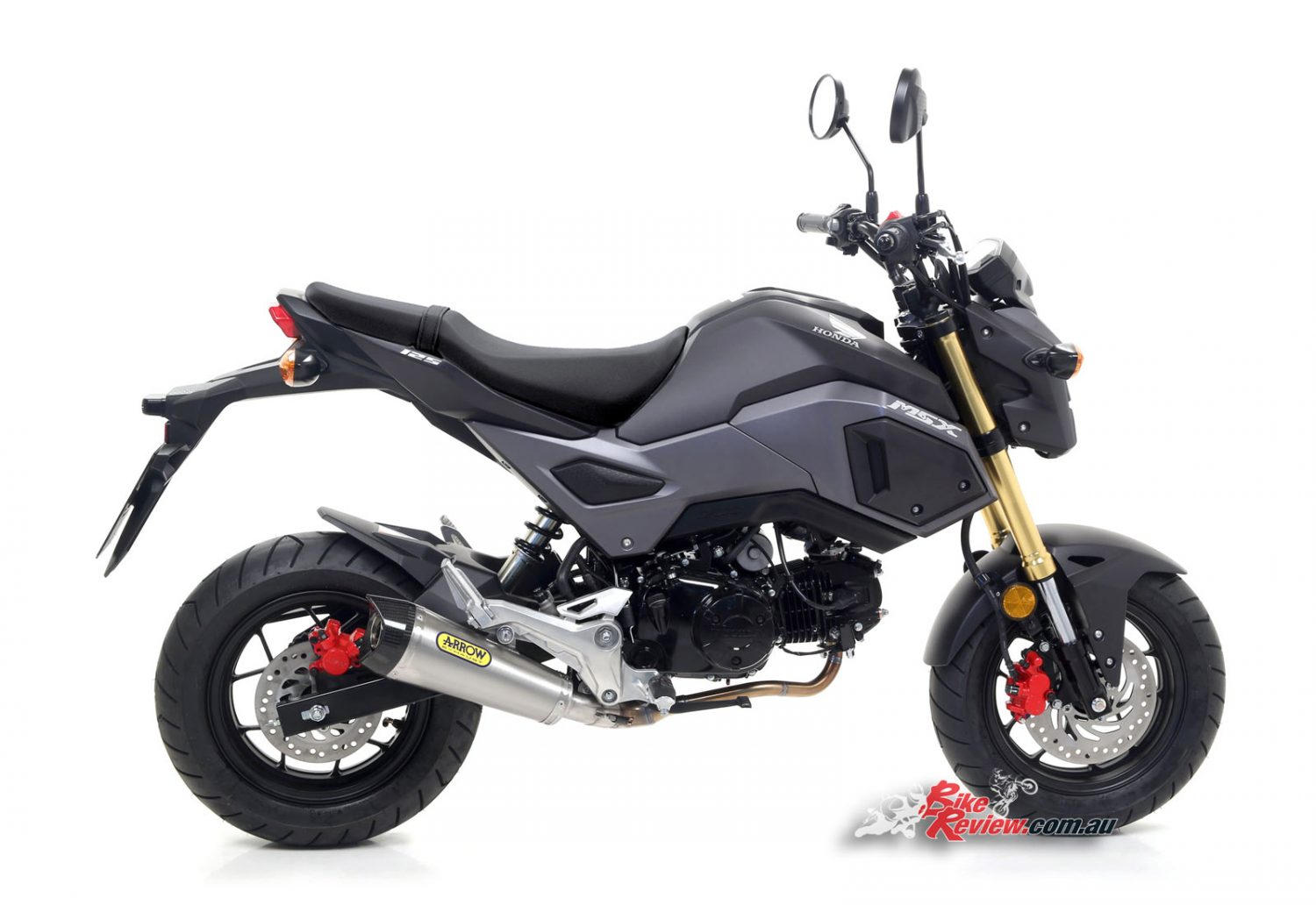 new product full arrow exhaust for honda grom bike review. Black Bedroom Furniture Sets. Home Design Ideas