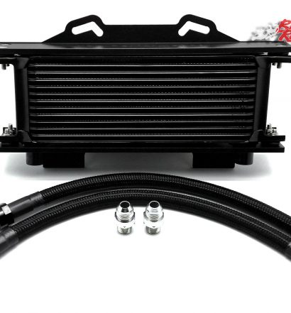 Hel Performance Oil Cooler Kit with braided black lines