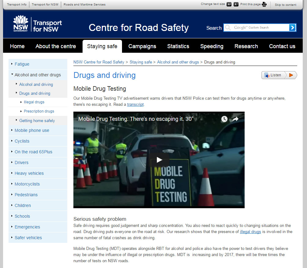 Centre for Road Safety